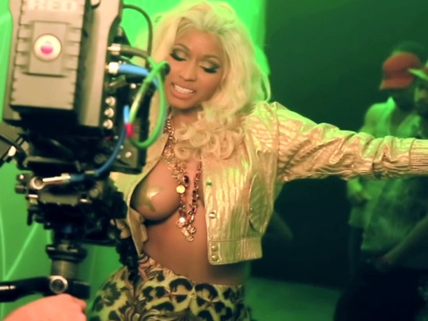 Nicki Minaj Films New Music Video